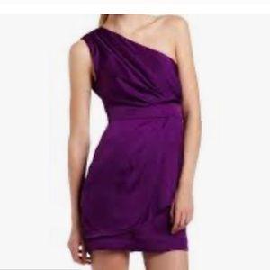 BCBGeneration One Shoulder Silky Dress 12